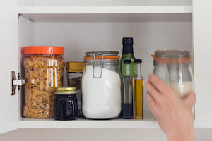 clean your pantry to get rid of moths